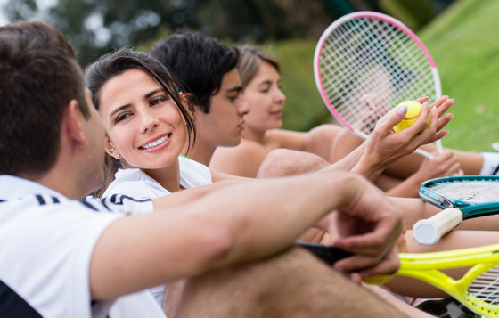 Tennis players of all ages skill level and backgrounds