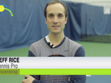 The volley is a short swing that is struck before hitting the ground. Tennis Pro Jeff Rice talks about the best racquet angle to use when approaching a volley for this weeks tennis tip of the week!